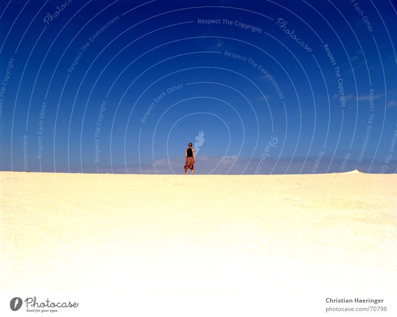Woman Sky White Blue Vacation & Travel Calm Clouds Freedom Happy Sand Warmth Landscape Contentment Gold Gold Horizon