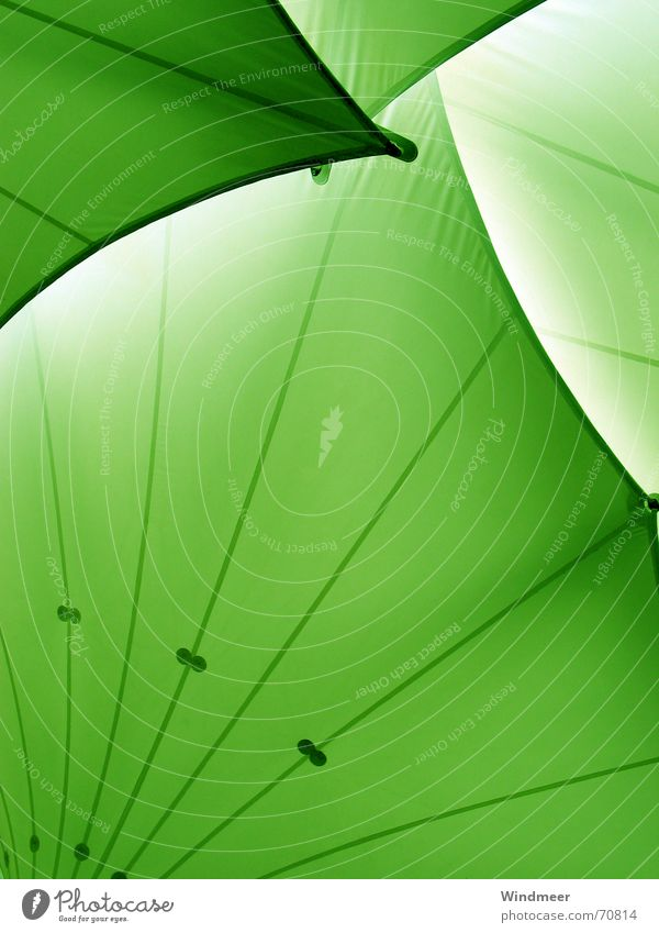 Green Rain Waves Corner Roof Protection Stripe Arch Disk Canopy