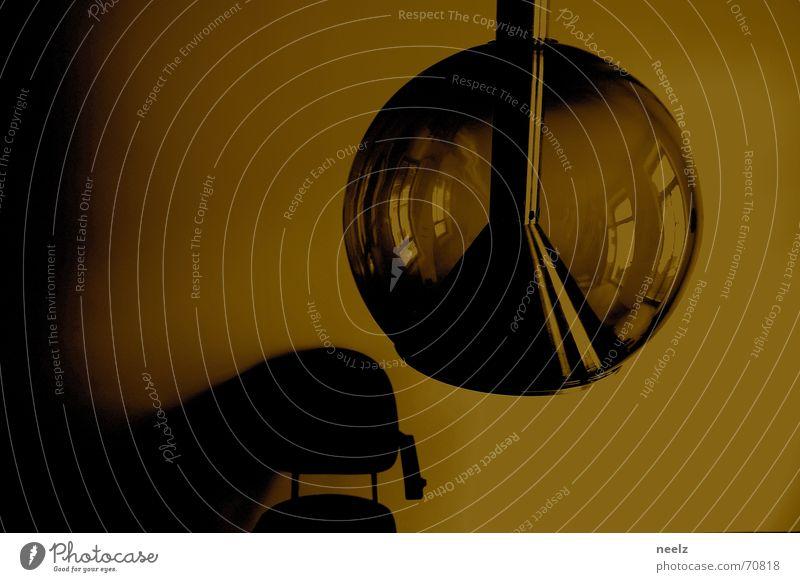 INTERIOR Lamp Retro Reflection Dark Wall (building) Places interior Chair Shadow Sepia