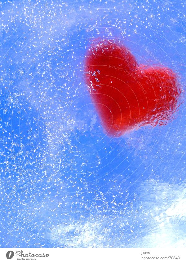 Water Sky Blue Red Love Cold Air Ice Heart Hope Trust Pain Frozen Blow Air bubble Feeble
