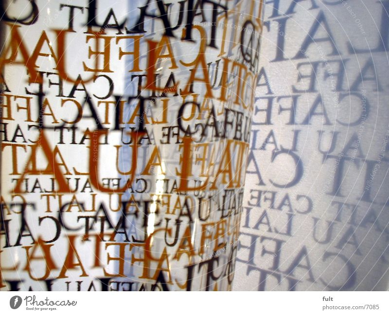 latte Latte macchiato Typography Paper Things Characters