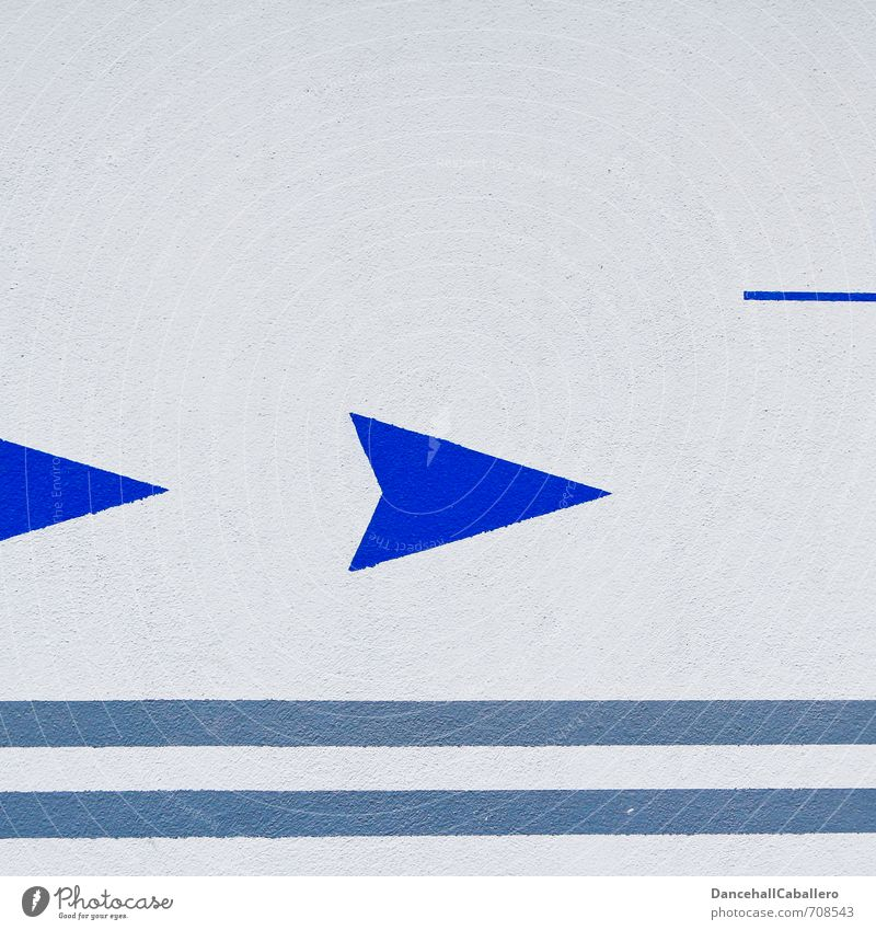 right turn... Wall (barrier) Wall (building) Sign Signs and labeling Arrow Stripe Sharp-edged Blue Gray White Direction Trend-setting Right Line 2 Colour photo