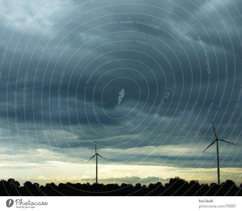 Sky Black Clouds Forest Dark Rain 2 Wind 3 Action Energy industry Electricity Gale Wind energy plant Wheel Evil
