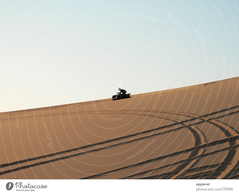 Traces in the sand Namibia Desert Sand desert sand Freedom quad bike quad biking fun