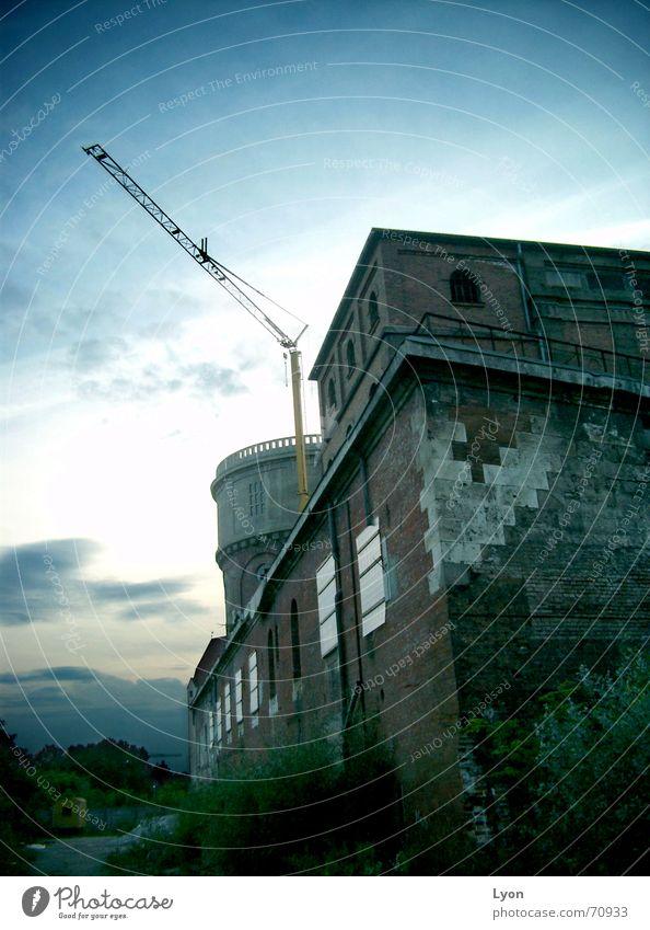 Old Industrial Photography Tower Brick Crane Dusk Fortress Gentleman