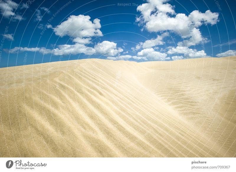 sandy Landscape Sand Sky Clouds Beautiful weather Desert Gloomy Dry Adventure New Zealand Dune Colour photo Exterior shot Deserted Day Sunlight