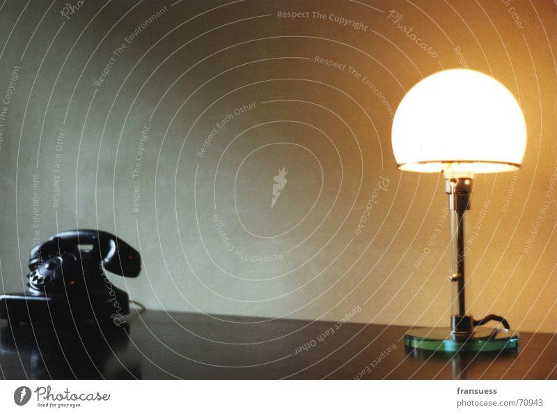 Old Loneliness Calm Style Office Lamp Elegant Design Esthetic Illuminate Telephone Retro Desk Still Life Direct Table