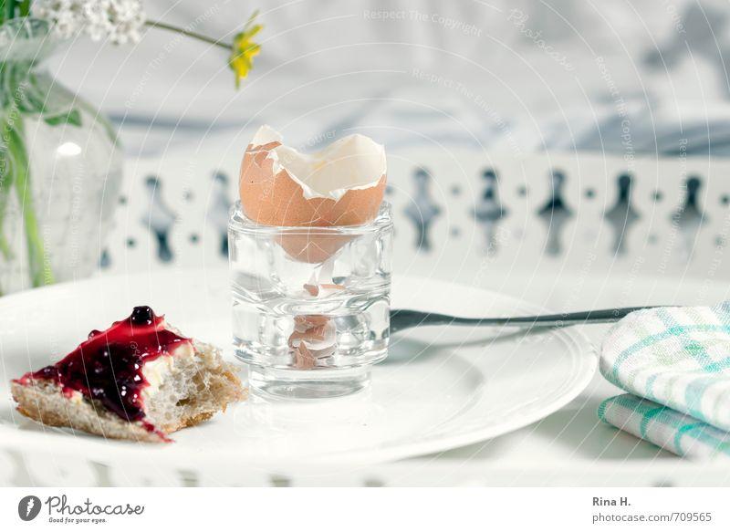 breakfast in bed Food Roll Jam Nutrition Breakfast Plate Spoon Living or residing Bright Joie de vivre (Vitality) Napkin Tray glass vase Full Completed Eggshell