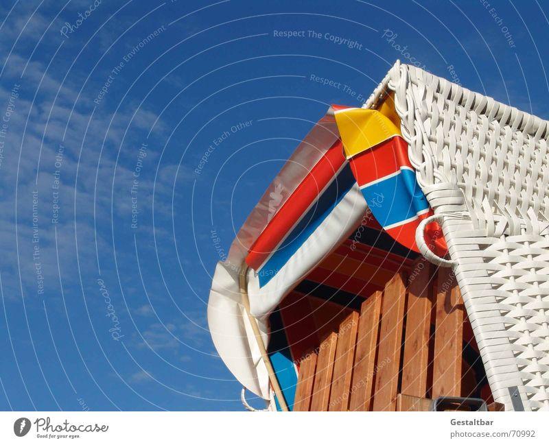 Ocean Summer Beach Vacation & Travel Calm Relaxation Coast Baltic Sea Beach chair Rügen Hissing Formulated Sun blind