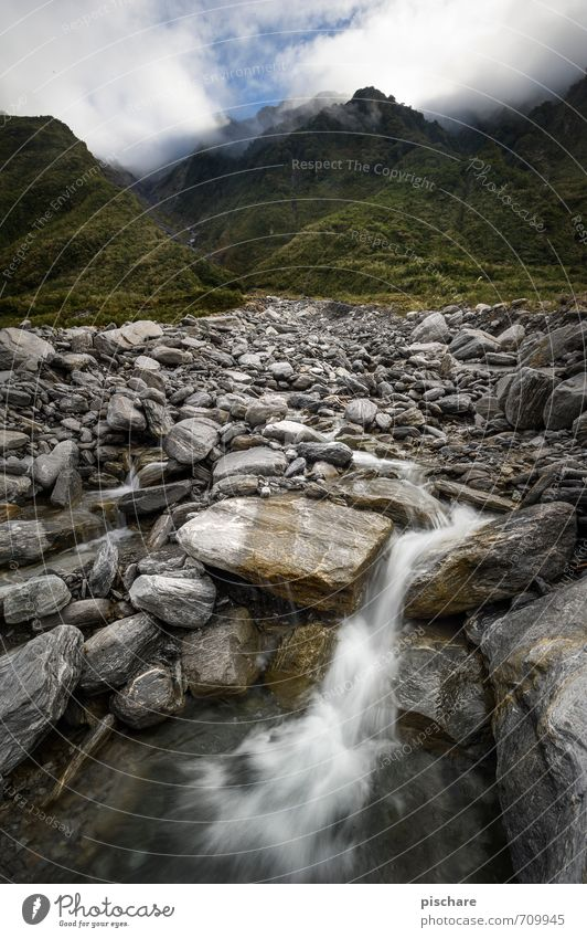 Nature Water Landscape Calm Mountain Natural Rock Elements Adventure Waterfall Source New Zealand