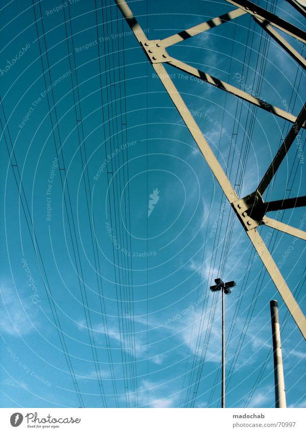 Sky Summer Clouds Line Power Energy industry Electricity Cable Industrial Photography