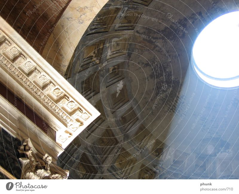 pantheon Rome Italy Light Cornice Architecture Shadow eternal city Pantheon Shaft of light Vault Domed roof