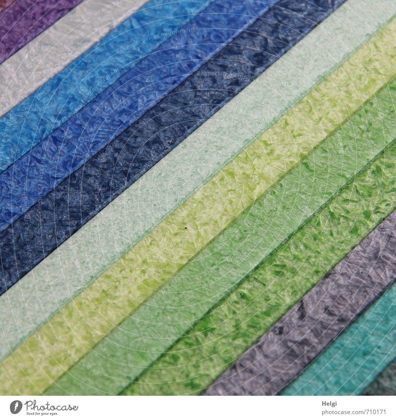 Blue Beautiful Green Gray Exceptional Lie Design Arrangement Esthetic Simple Creativity Stripe Uniqueness Violet Turquoise Long