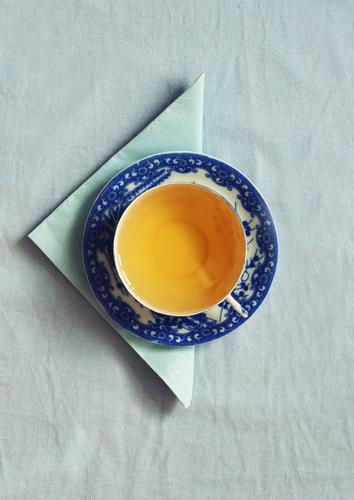 Blue Healthy Eating Food Decoration Esthetic Nutrition Beverage Break Round Kitsch Drinking Tea Breakfast Crockery Cup