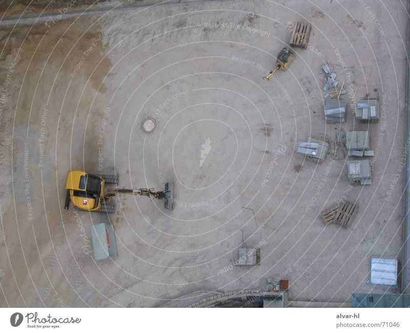 Gray Break Construction site Excavator Weekend Bird's-eye view Planetarium
