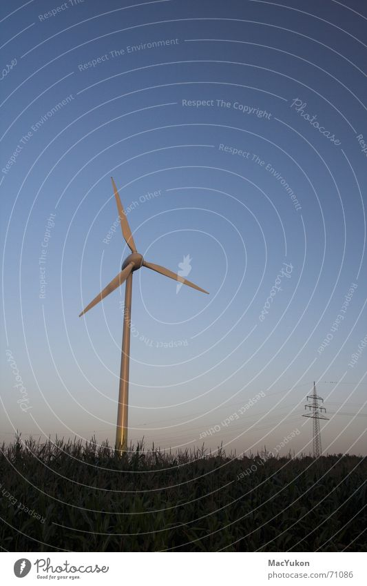 Energy Wind energy plant Wire Generator Propeller Electricity Power Field Hub Energy industry growian Rope Rotor Electricity pylon dynamo Maize Sky Wing