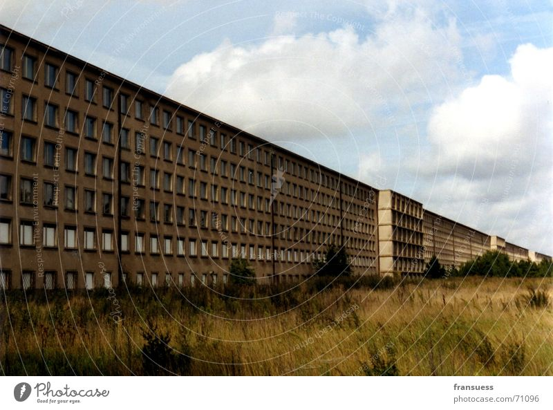 Where can I find recreation here? Prora Fascist National socialism Vacation & Travel Building Complex of buildings Past Decline Rügen Baltic Sea KDF