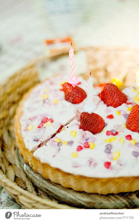 Joy Happy Feasts & Celebrations Food Party Fruit Birthday Nutrition Heart Cooking & Baking Candle Cake Baked goods Picnic Dessert Dough