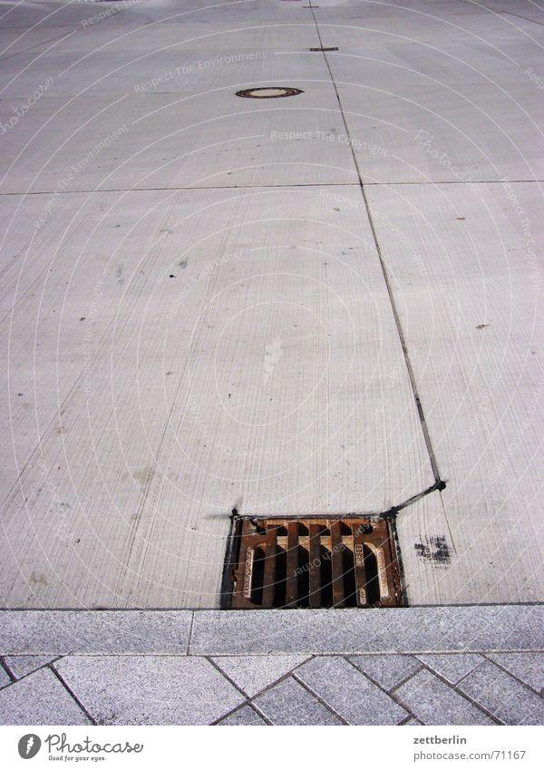Street Concrete Sidewalk Parking lot Brook Gully Seam Curbside Effluent