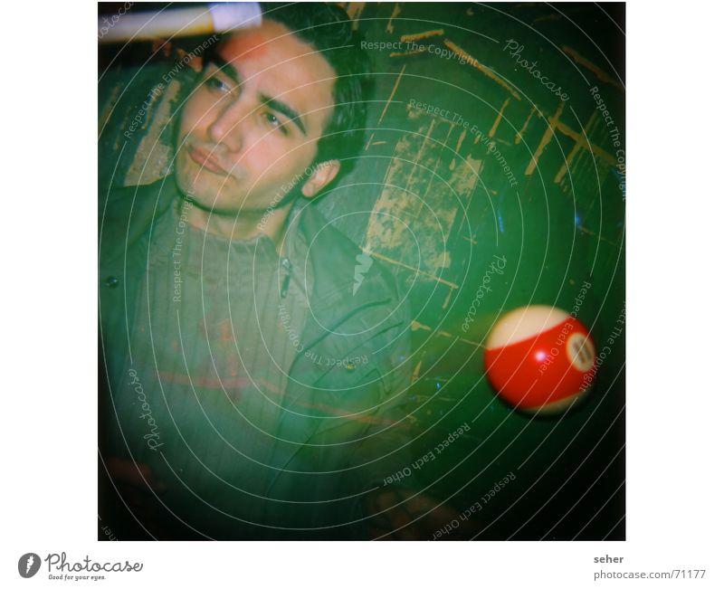 Man Green Joy Face Wall (building) Playing Art Cool (slang) Culture Pool (game) Queue Billard bowle