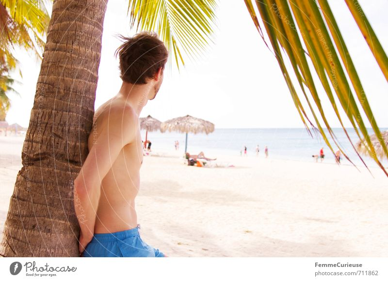 Human being Youth (Young adults) Vacation & Travel Man Blue Summer Relaxation 18 - 30 years Young man Adults Warmth Swimming & Bathing Masculine Contentment