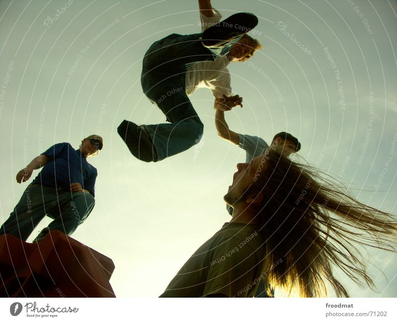 Sky Sun Summer Joy Jump Hair and hairstyles Footwear Flying Tall Free Aviation Action Frozen Brave Dynamics Risk