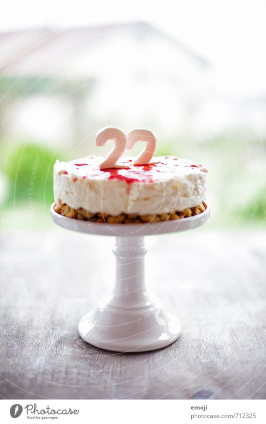 22 Yoghurt Dairy Products Dessert Candy Nutrition Banquet Delicious Sweet Digits and numbers Birthday cake Colour photo Interior shot Deserted Day