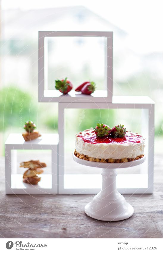 no bake cake Yoghurt Dairy Products Fruit Dessert Candy Nutrition Delicious Sweet Gateau Colour photo Multicoloured Interior shot Deserted Day