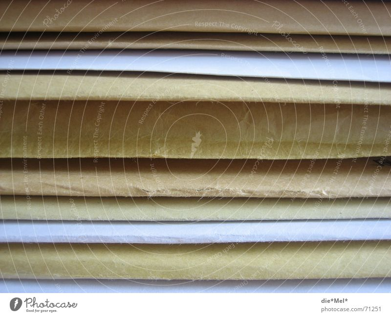 White Paper Document Letter (Mail) File Beige Envelope (Mail) Rack Consecutively Mat