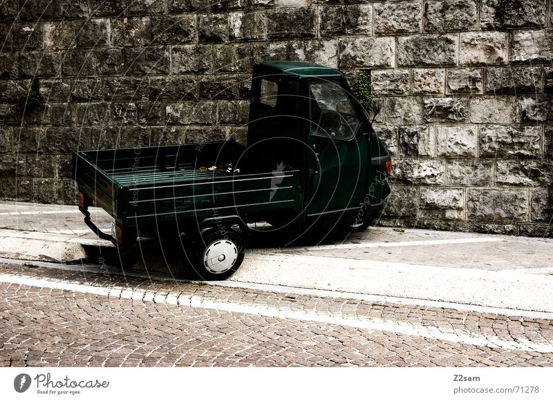 Car Italy Sidewalk Parking Scooter Transporter Motorcycle Siesta Load Delivery truck