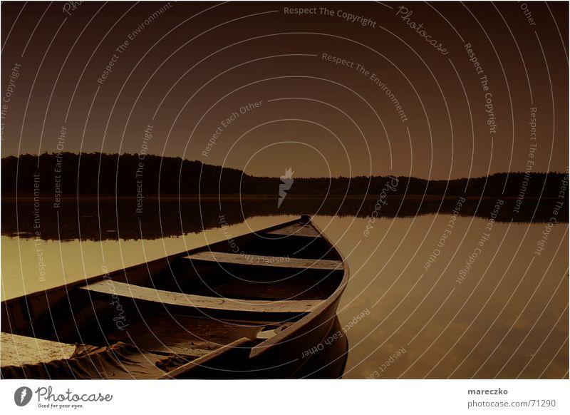 morning mood Lake Sunset Romance Watercraft Rowboat Rower Sailboat Morning Evening Dawn Calm