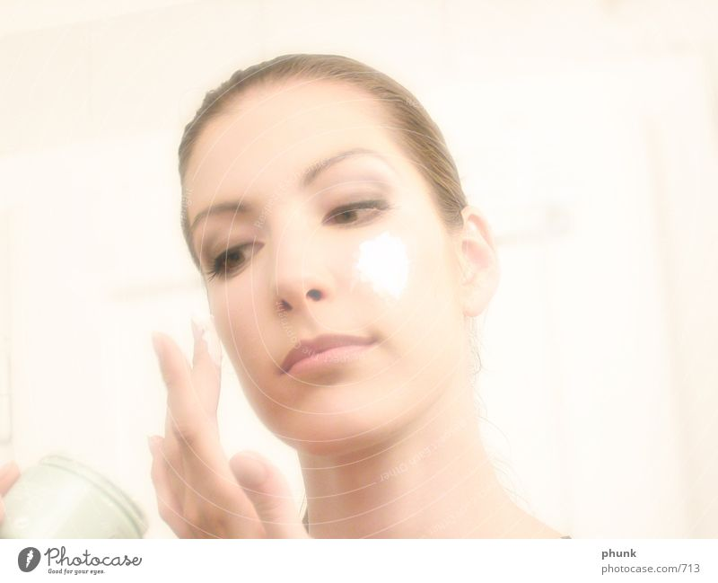 Woman Beautiful Face Colour Healthy Pink Lady Cosmetics Smooth Overexposure Portrait photograph