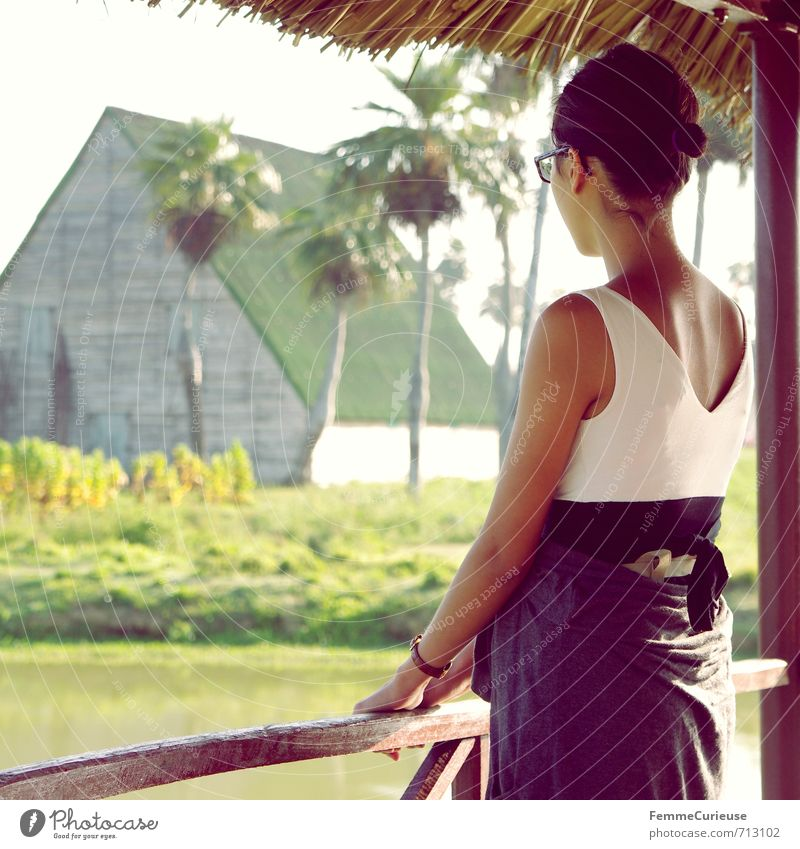 Human being Woman Child Youth (Young adults) Vacation & Travel Relaxation Young woman Calm 18 - 30 years Adults Feminine Travel photography Happy Lake Idyll