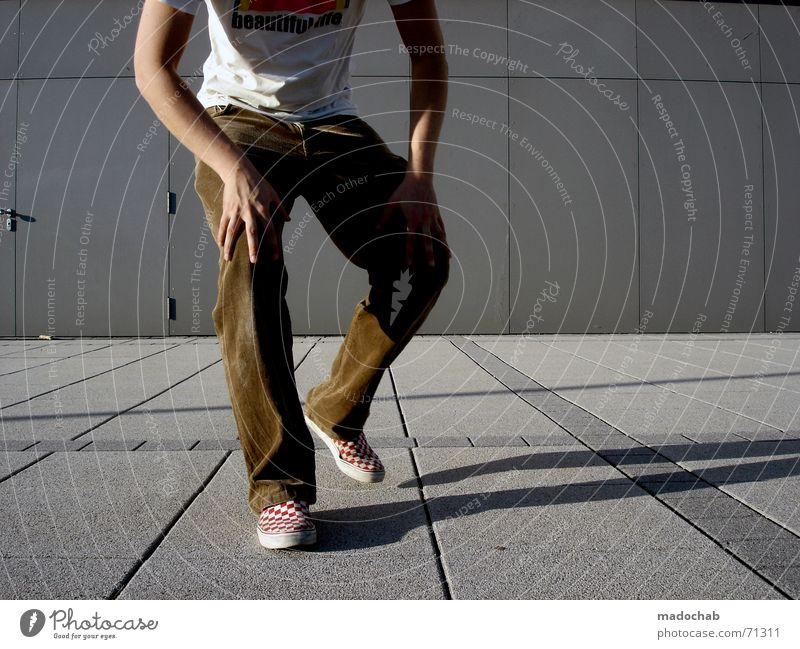 Human being Man Youth (Young adults) Line Lifestyle Near Forwards Pants Guy Come Stride Partially visible Section of image Frontal Approach Step-by-step
