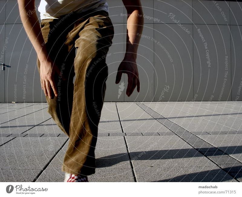 Human being Man Line Lifestyle Forwards Pants Guy Partially visible Section of image Creep Step-by-step Casual clothes