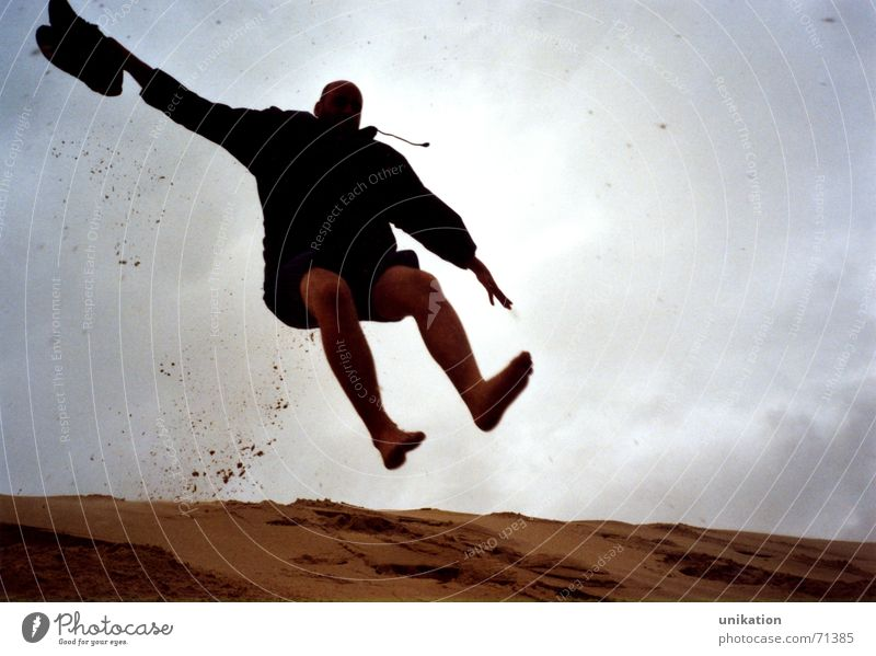Jump Movement Sand Action Joie de vivre (Vitality) Airplane landing Downward Come Hop Arcachon