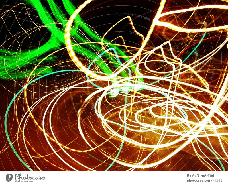 Play of light2 Visual spectacle Light Night Circle Green White Frankfurt Lighting Street lamps and traffic lights