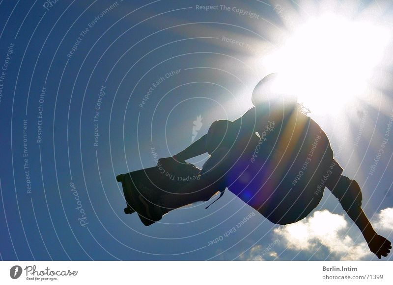 Sky Sun Clouds Jump Style Skateboarding 2006