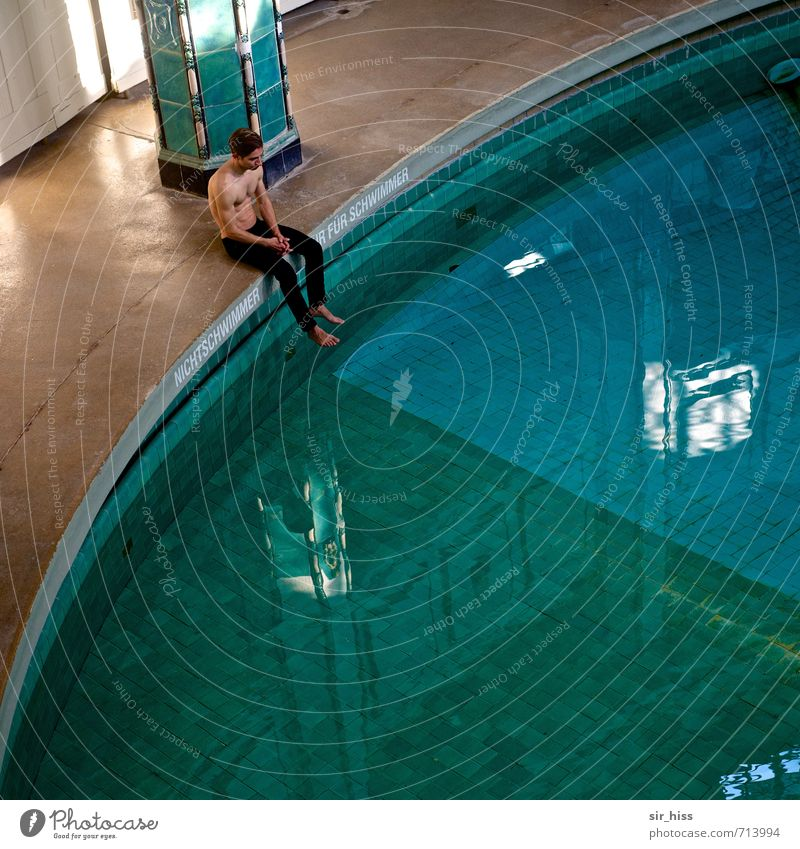 HALLE/S.-TOUR   quarter to Medical treatment Contentment Swimming & Bathing Swimming pool Body 1 Human being Monument urban spa Old Hang Sit Athletic Healthy