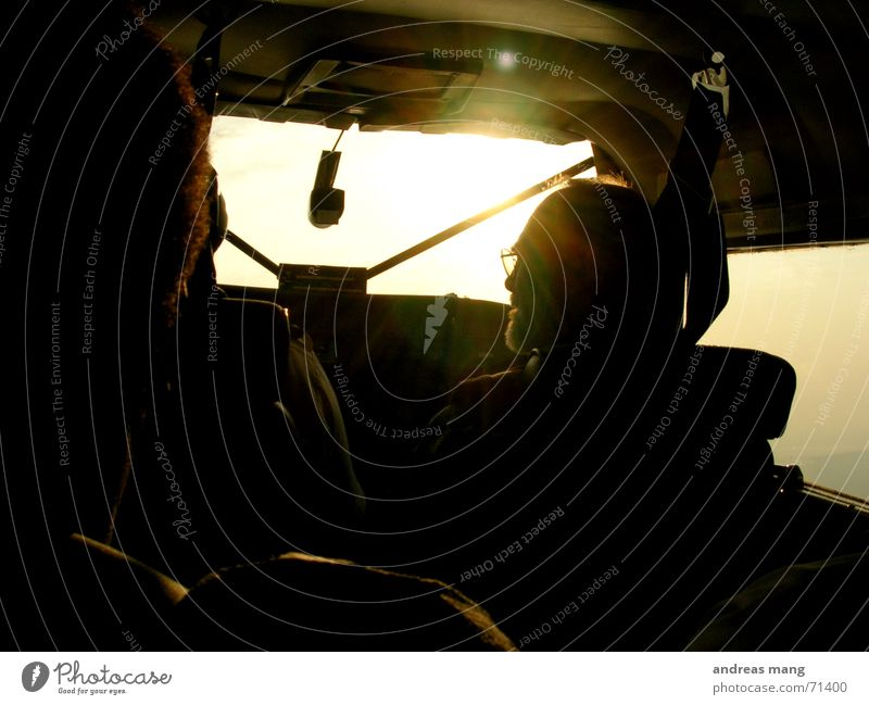 Sun Airplane Flying Tall Aviation Against Pilot Fjord Covers (Construction)