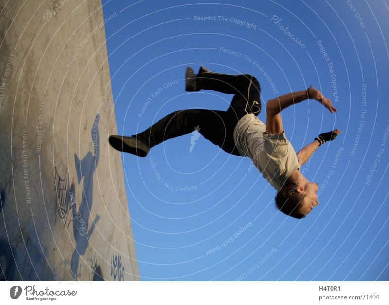 Wallflip Jack two Parkour Dream Gravity Salto Crazy Sports Free Sky Aviation free running Flying Freedom wallflip