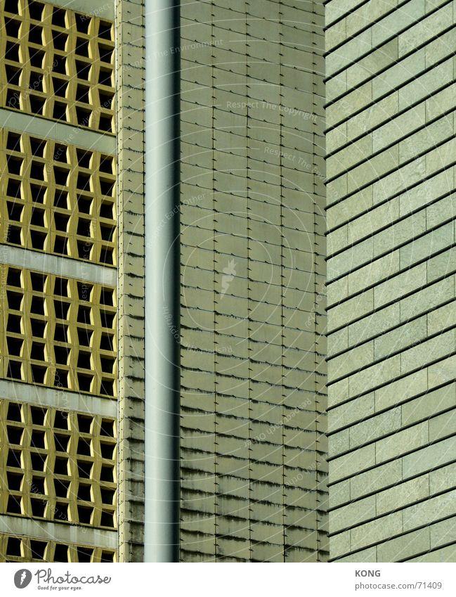 eyeballed Pattern Dresden Facade Concrete Town Hongkong Gray Beige Wall (building) shaped bricks Wall (barrier) Architecture