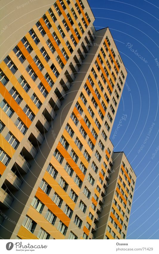 Sky House (Residential Structure) Window Building Berlin Orange Facade Flat (apartment) Living or residing Gloomy Energy industry Modern GDR Climate change