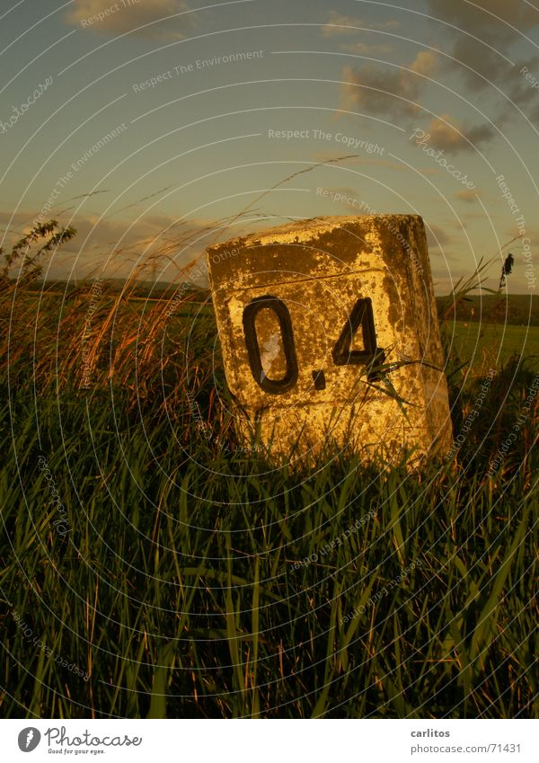 don't let yourself down Milestone Roadside Warped landmark Lanes & trails Street Signs and labeling grass verge Old Crazy Tilt