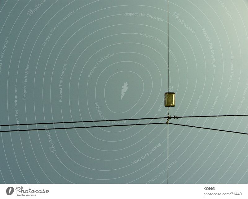 Sky Line Empty Electricity Transmission lines Graphic Tram Hongkong