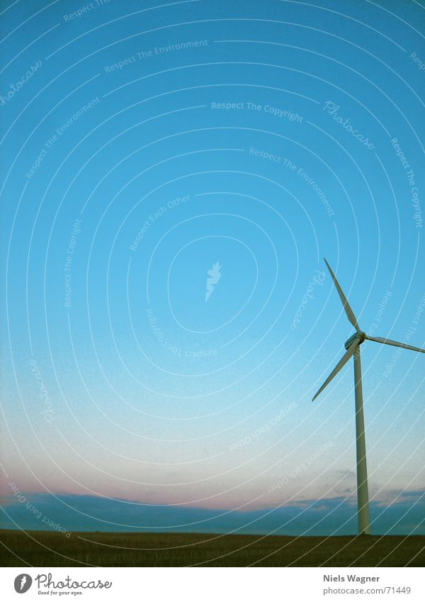 Everything only with wind 1 Wind energy plant Meadow Green Sunset Grass Sky Dusk