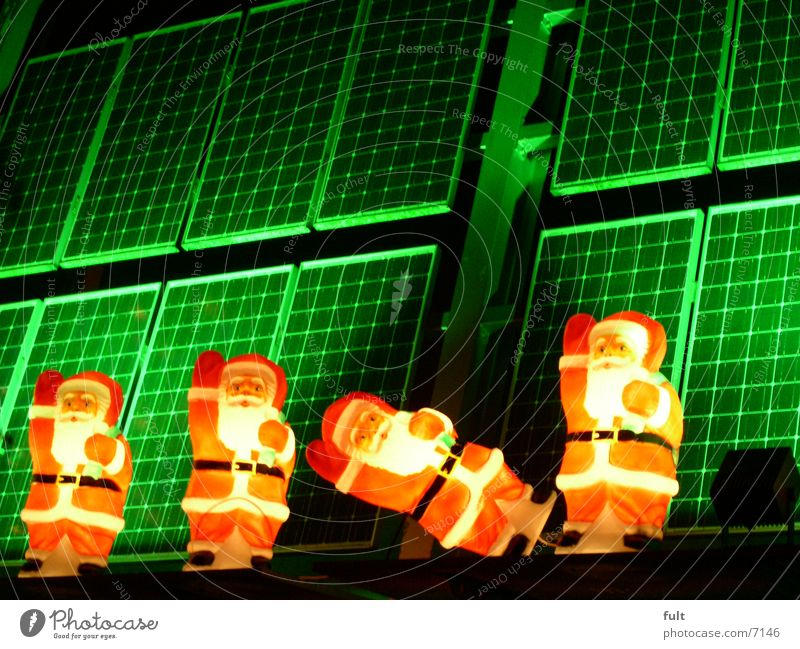 Christmas & Advent Green Lamp Santa Claus