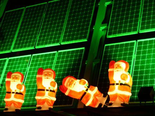 Santa Claus Green Light Christmas & Advent Lamp