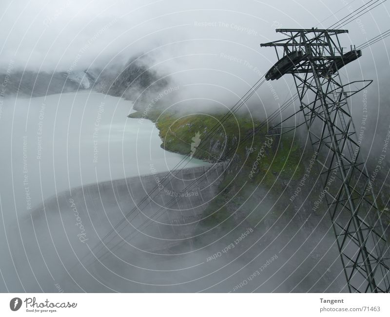 Water Clouds Mountain Rain Lake Waves Wet Rope Fog Energy industry Cable Switzerland Vantage point Hollow Damp Edge