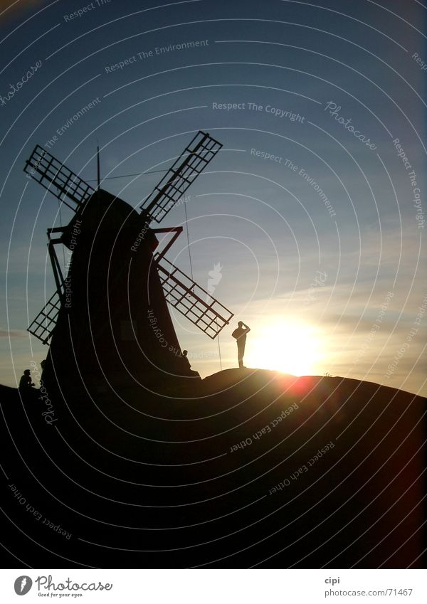 Don Quixote II Dusk Windmill Mill Netherlands Sky Sweden Sun Goodbye
